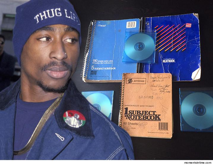 Encuentran manuscritos y música inédita de Tupac Shakur